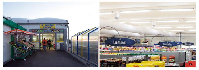 Назначение конструкции – продуктовый супермаркет EDEKA West