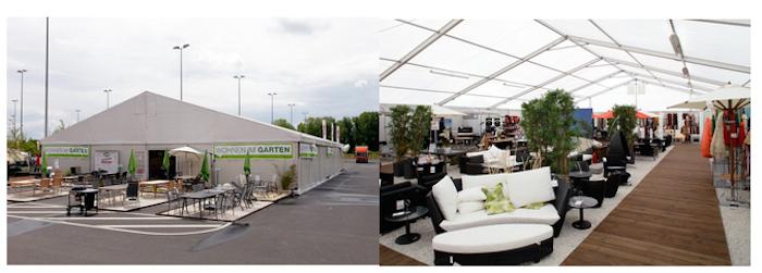 Назначение конструкций – торговые павильоны для презентации и продажи эксклюзивной садовой мебели Mann Mobilia