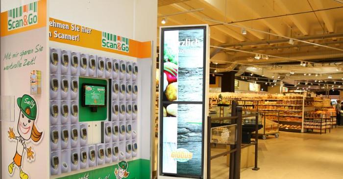 Scan&Go в гипермаркете Globus