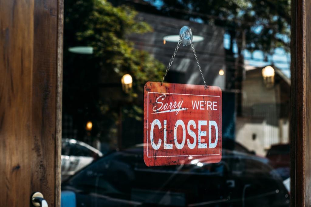 Закрытый магазин - pexels