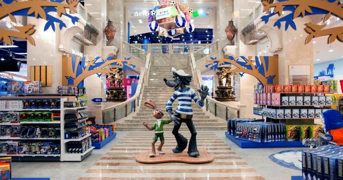 Интерьер флагманского Детского мира в Москве